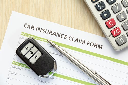 Car accident claim form